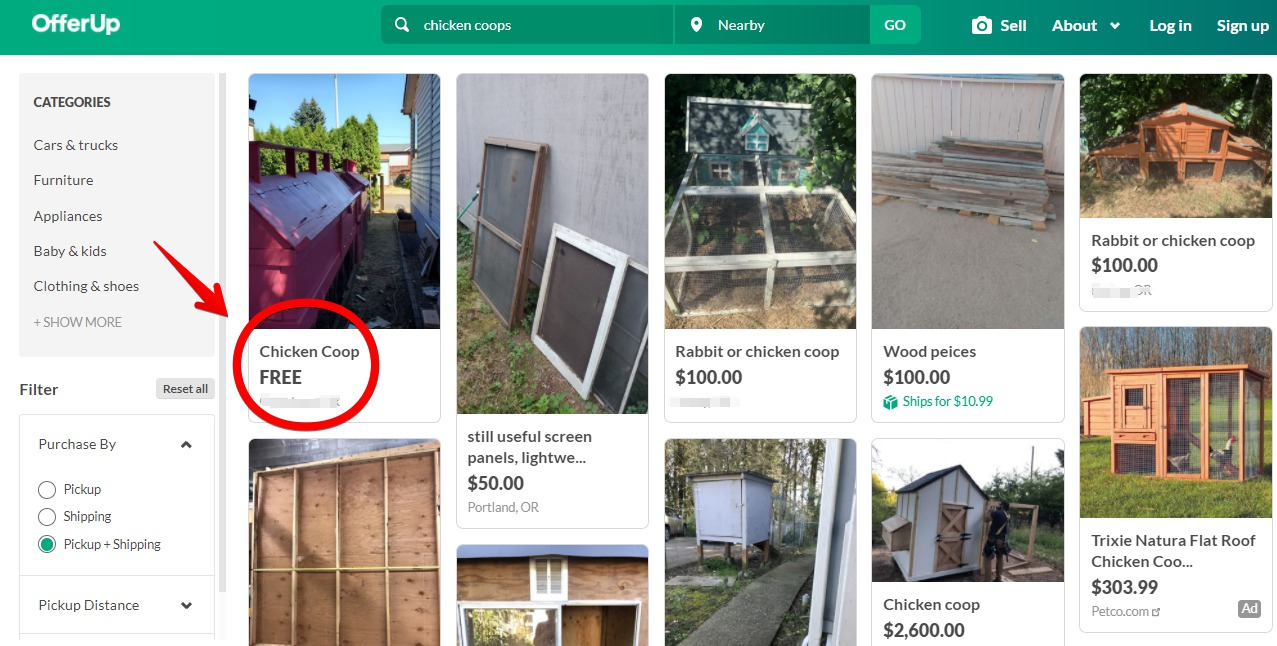 chicken coop for sale near me