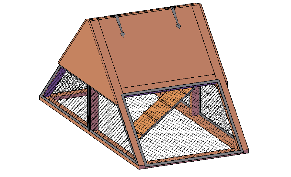 free chicken coop plan for 4 chickens