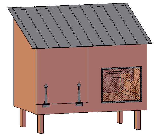free chicken coop plan for two chickens