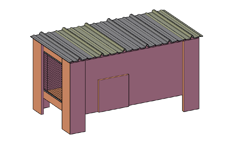 free chicken coop plan for 2 to 4 chickens