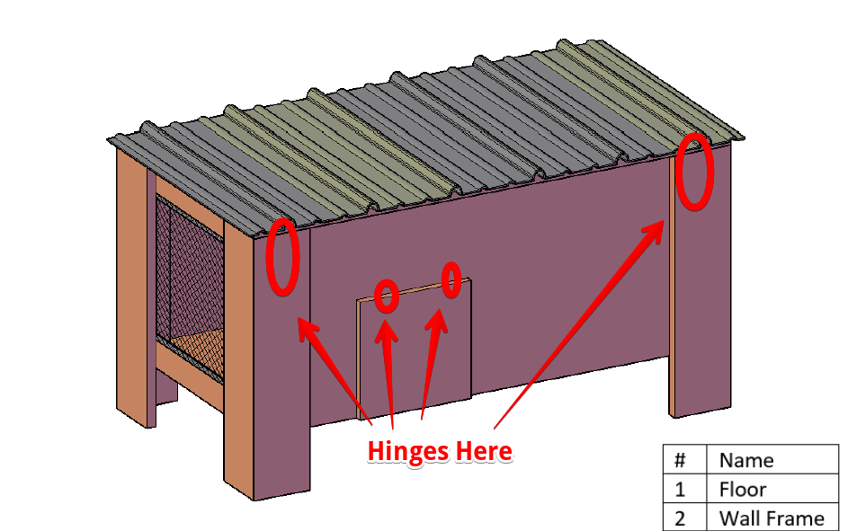 free chicken coop plan for two to four chickens