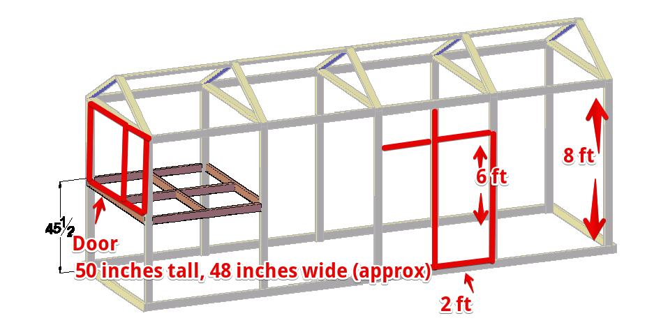 chicken coop door height