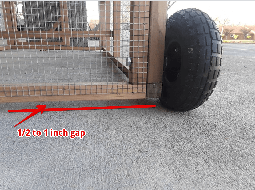 how to add wheels to chicken coop