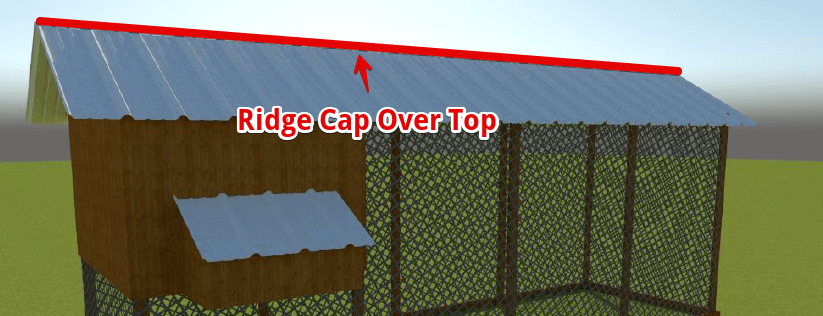 chicken coop metal roof